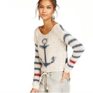 Free People Anchor Cropped Sweater S